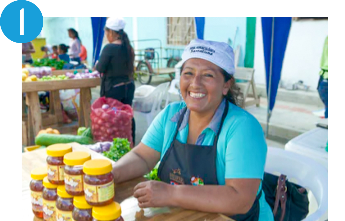 Woman running a small business